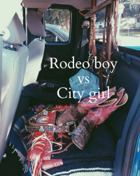 Rodeo boy and spotlight girl