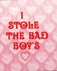 I stole the Bad Boy's ❤️