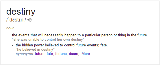 destiny vs fate definition