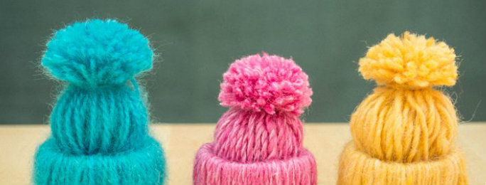 Christmas Gift Idea- Mini Yarn Hats