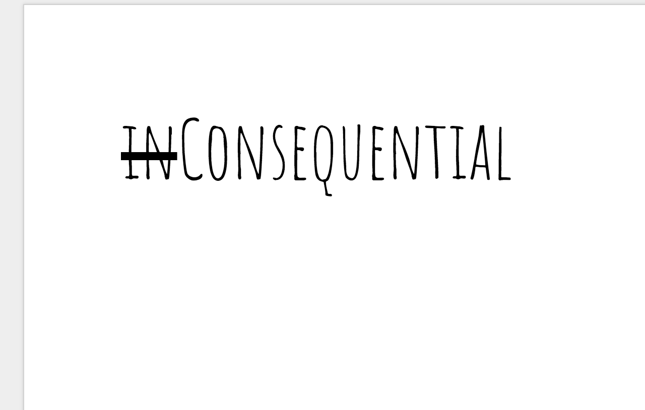 inConsequential