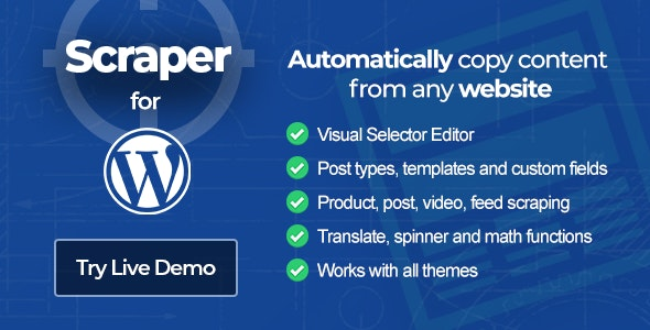 How to do Web Scraping of a Wordpress website