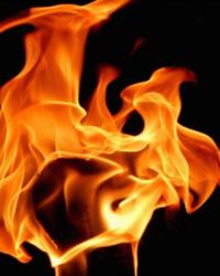 Faces In The Flames