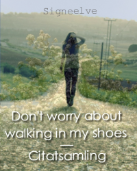 Don't worry about walking in my shoes - Citatsamling