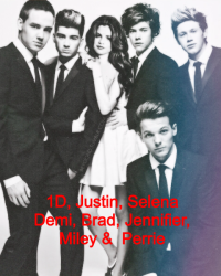 Celebrity World #Harry #Selena #Justin #Demi #Jennifer #Zayn #Perrie #Louis #Brad