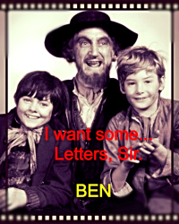 I want some more... Letters, sir!