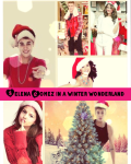 Selena Gomez in a winter wonderland