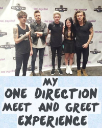 My One Direction Meet And Greet
