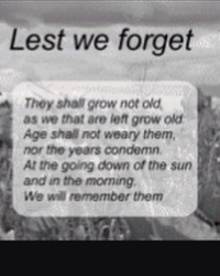 Lest we forget them
