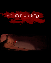his face all red