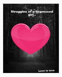 The struggles of a depressed girl