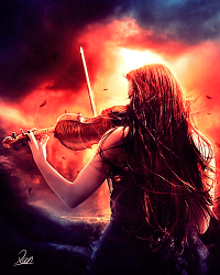 I wish to be remembered as a violin