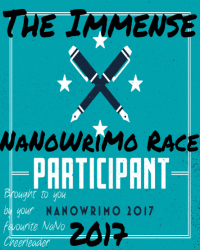 The Immense NaNoWriMo Race 2017