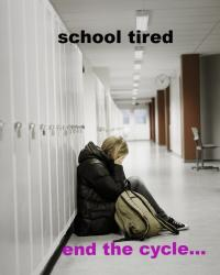 school tired