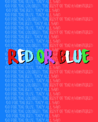 Red or blue