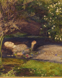 Did Ophelia have blue eyes?